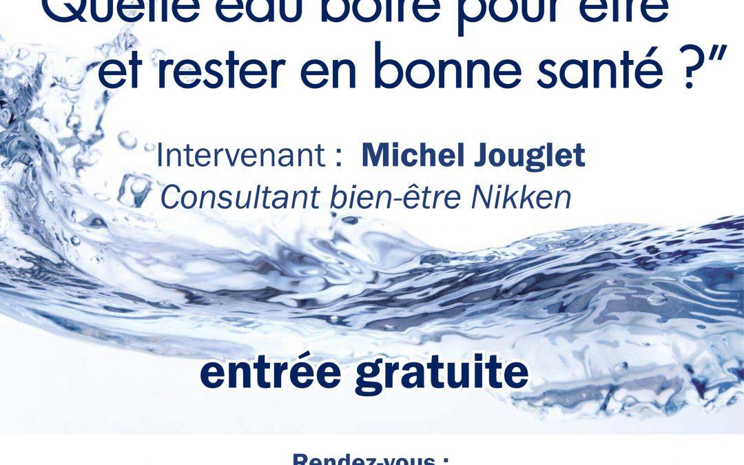 une conférence sur l'eau à Reims !